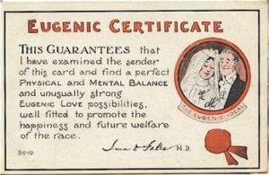 eugenics certificate