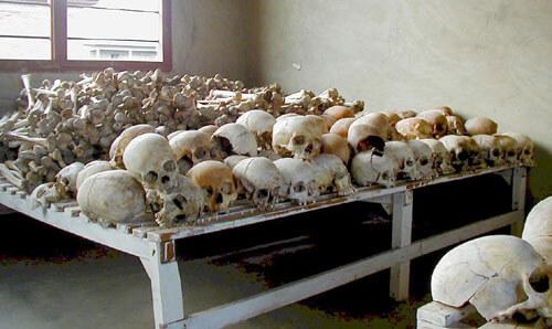 Rwandan Genocide Murambi skulls