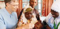bill gates administers polio vaccine