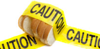 bread gluten food warning
