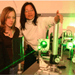 Girl Scouts in a lab