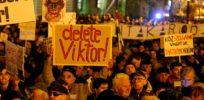 hungarians protest against pm viktor orban