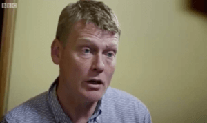 Reporter Tom Heap questions Greenpeace chief scientist.