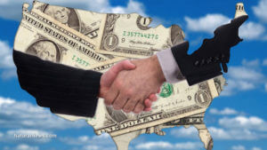Handshake Over Money America