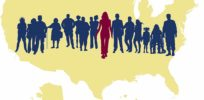precision medicine silhouettes us map