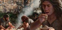 web C Neanderthals cooking vegetables artwork SPL
