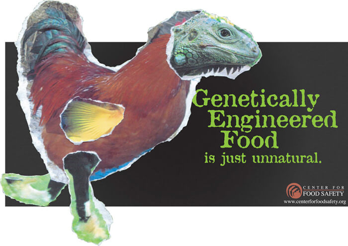 genetically modified food billboard