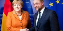 main source dpa Picture Alliance Thierry Monasse Martin Schulz chancellor Angela Merkel