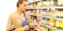 FDA Reading Food Label Woman Grocery Store Nutrition Label Changes x