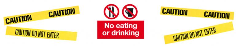 no eat caution x