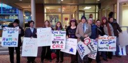protest of autism speaks