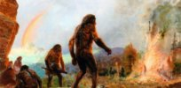 neanderthal fire rainbow by zdenek burian