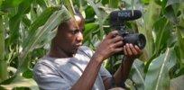 habimana jean claude in his mothers corn farm