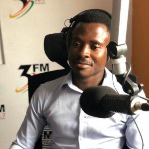 farmer evans okomeng at a radio programme