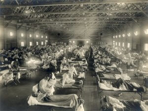 px camp funston at fort riley kansas during the spanish flu pandemic
