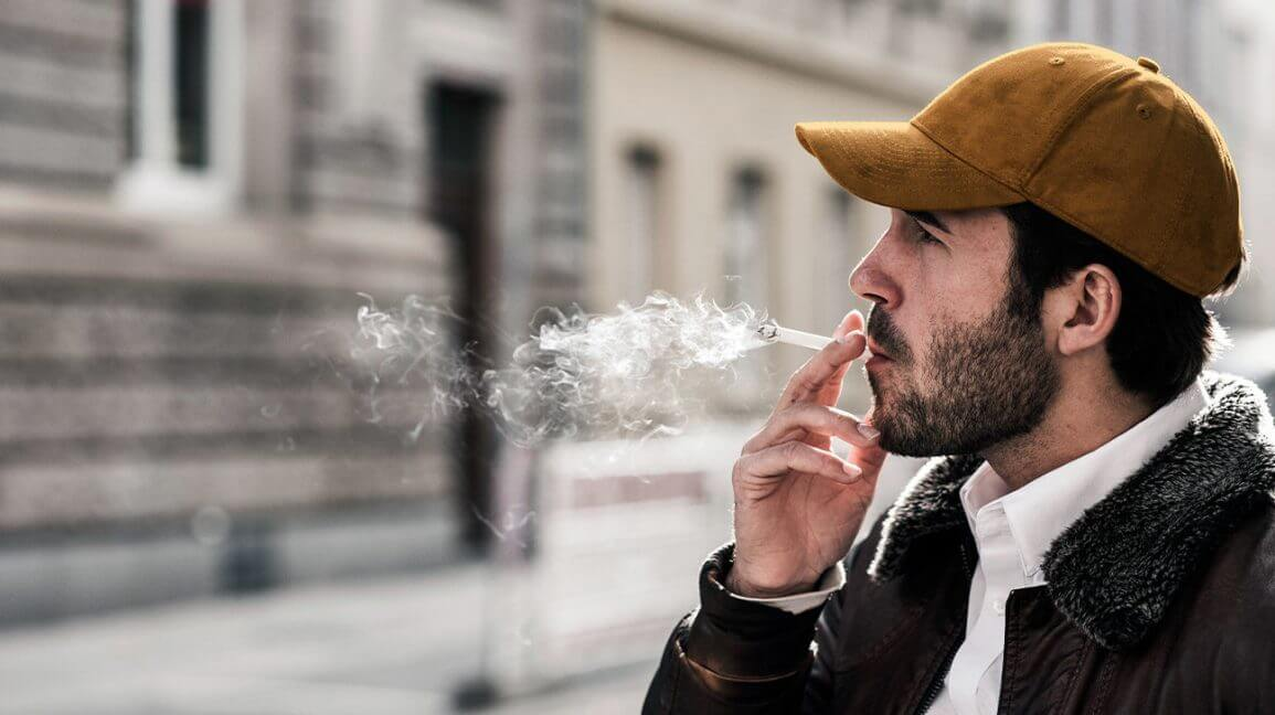 male smoking cigarette x header x
