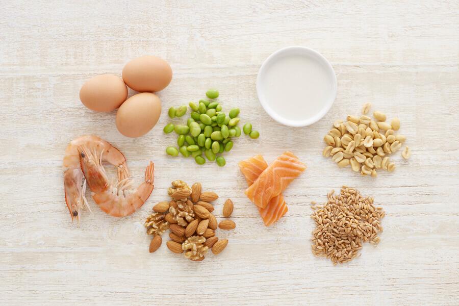 p allergenic foods