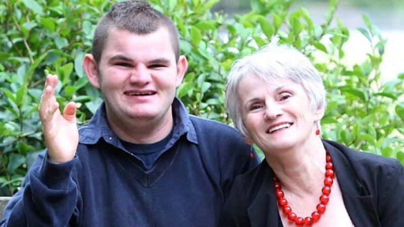 Mary Lou Carter with her son Nicholas, who suffers from Angelman Syndrome. Image credit: Peter Rae