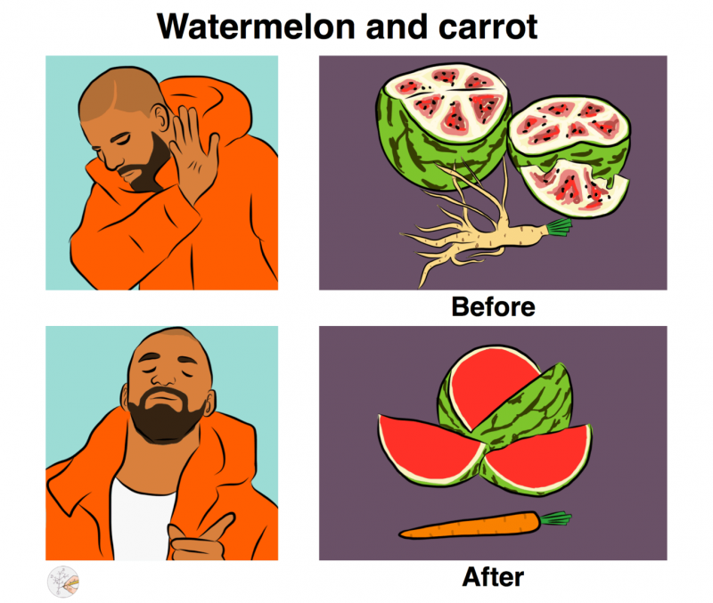 Drake watermelon and carrot