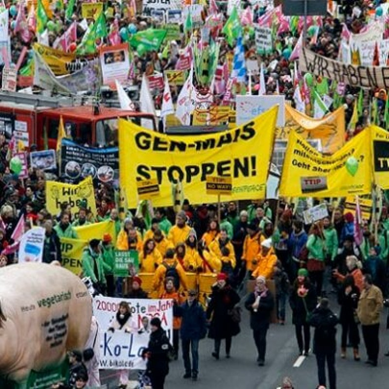 German GMO Protest x