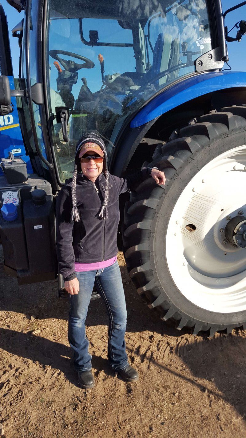 Janna with big tractor
