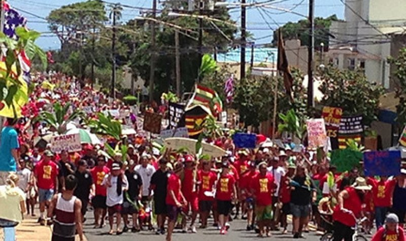 Kauai anti GMO march