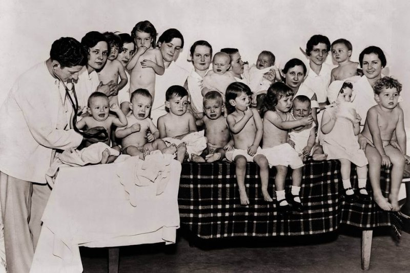 Children in a Better Babies Contest in 1931. The contest was meant to popularize the eugenics movement. Credit: Everett Collection