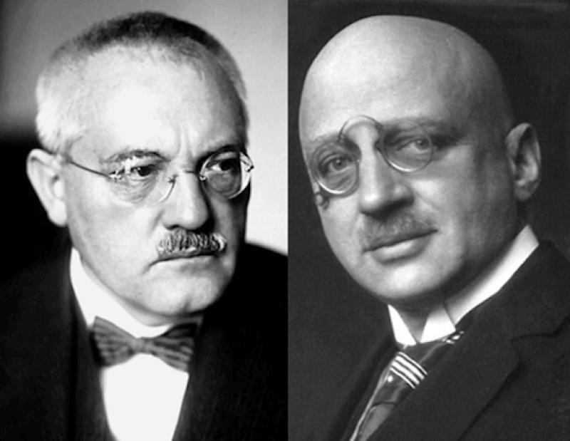 Fritz Haber (right) and Carl Bosch (left)