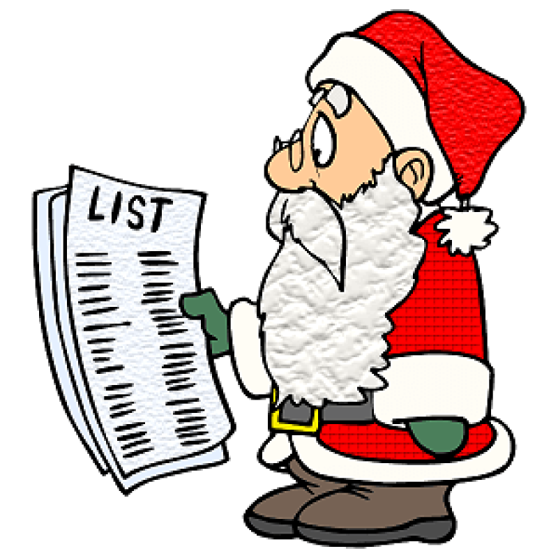 christmas santas list
