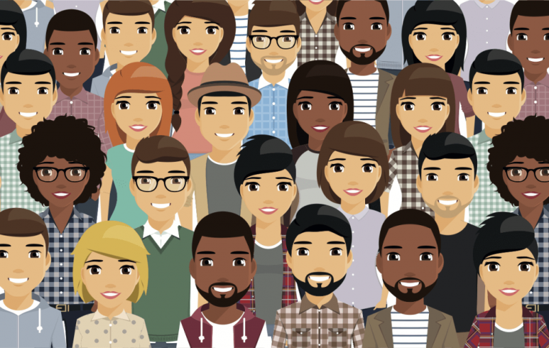 diverse population illustration x