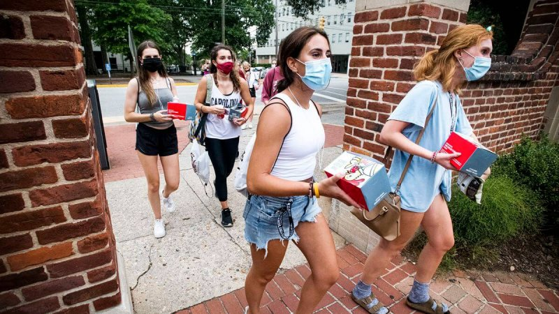 Students at the University of South Carolina. Credit: Sean Rayford/Getty Images