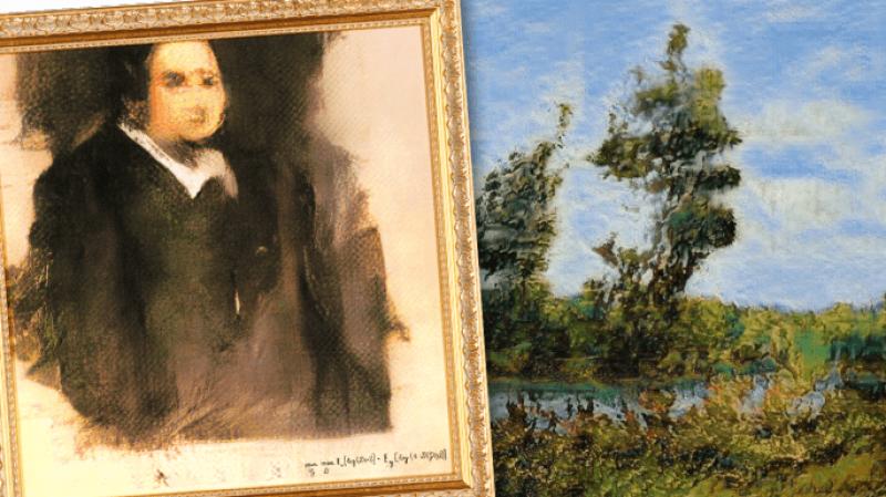 AI art that sold for a whopping $432,000 in 2018. Credit: Robbie Barrat