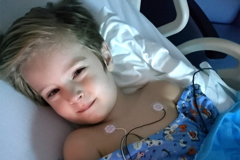 Alex, a child with COVID-related multisystem inflammatory syndrome in children (MIS-C). Credit: Johns Hopkins All Children's Hospital