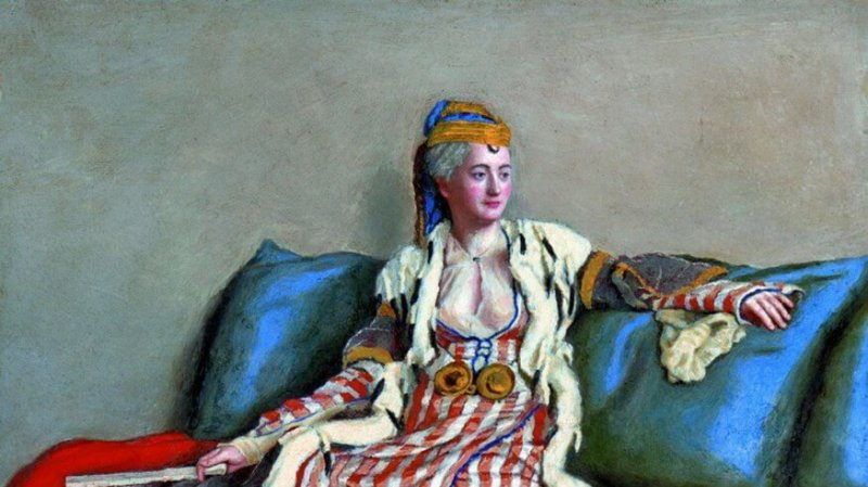 Lady Mary Wortley Montagu learned of a way to stop smallpox from women in the Ottoman Empire. She is depicted in Turkish costume in a 1756 painting by Jean-Etienne Liotard. Credit: History of Yesterday