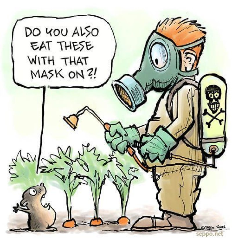 monsanto eat with mask on
