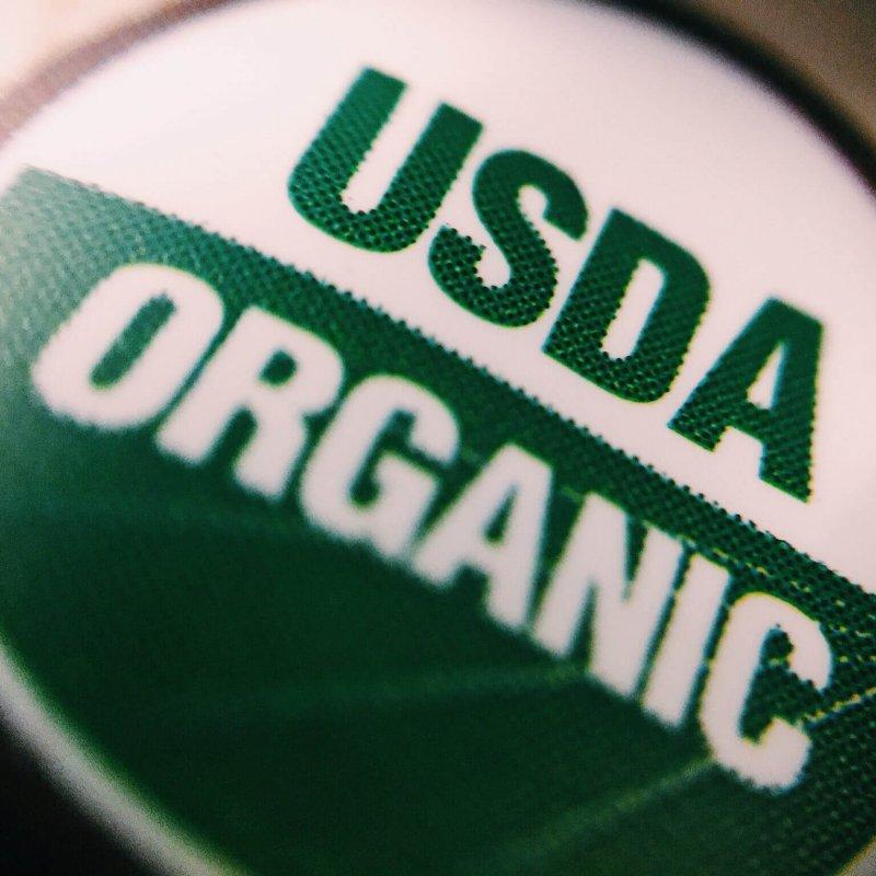 usda organic food label e