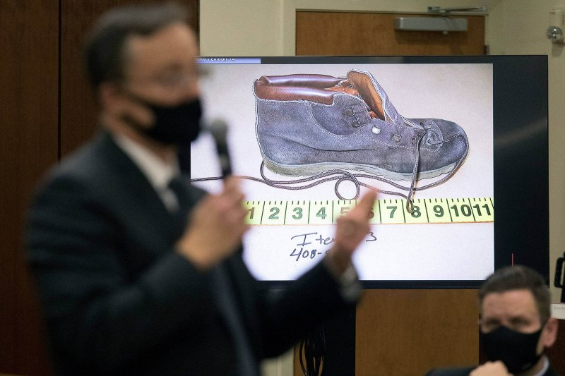 Snohomish County deputy prosecutor Craig Matheson talks about DNA found on a shoe, worn by victim Jody Loomis. Credit: Andy Bronson/The Herald